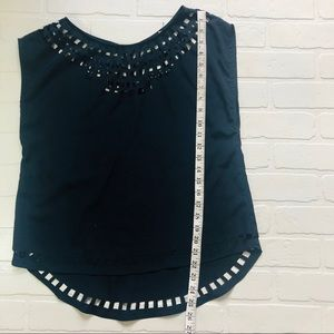Forever 21 Tops - Navy Laser Cut Blouse